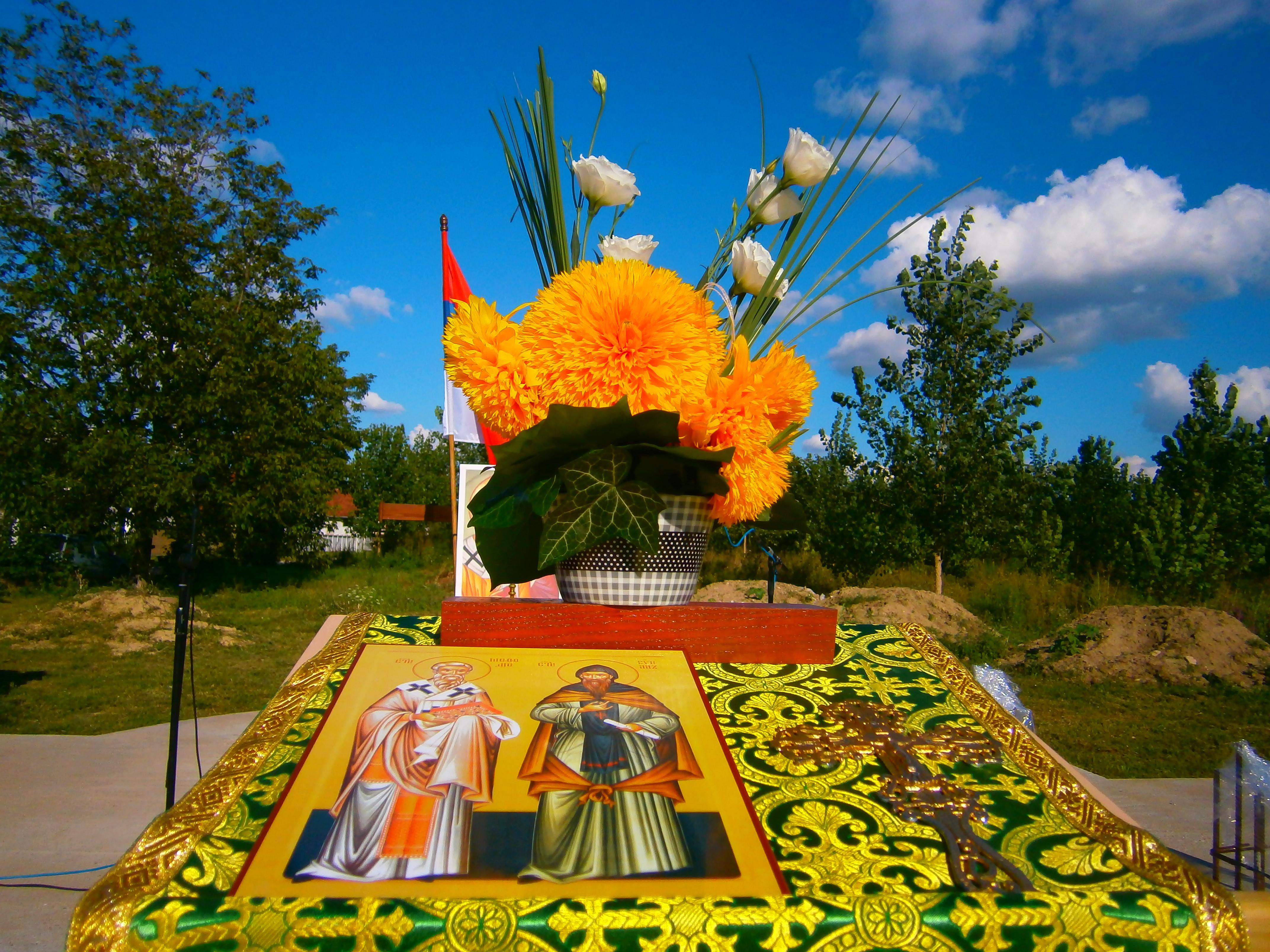Молитва за наставак радова на изградњи храма Св. Кирила и Методија у Сремској Митровици
