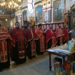 Света тајна јелеосвећења у храму Св. оца Николаја у Шиду