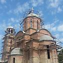 Освећена црква у насељу Шангај у Батајници