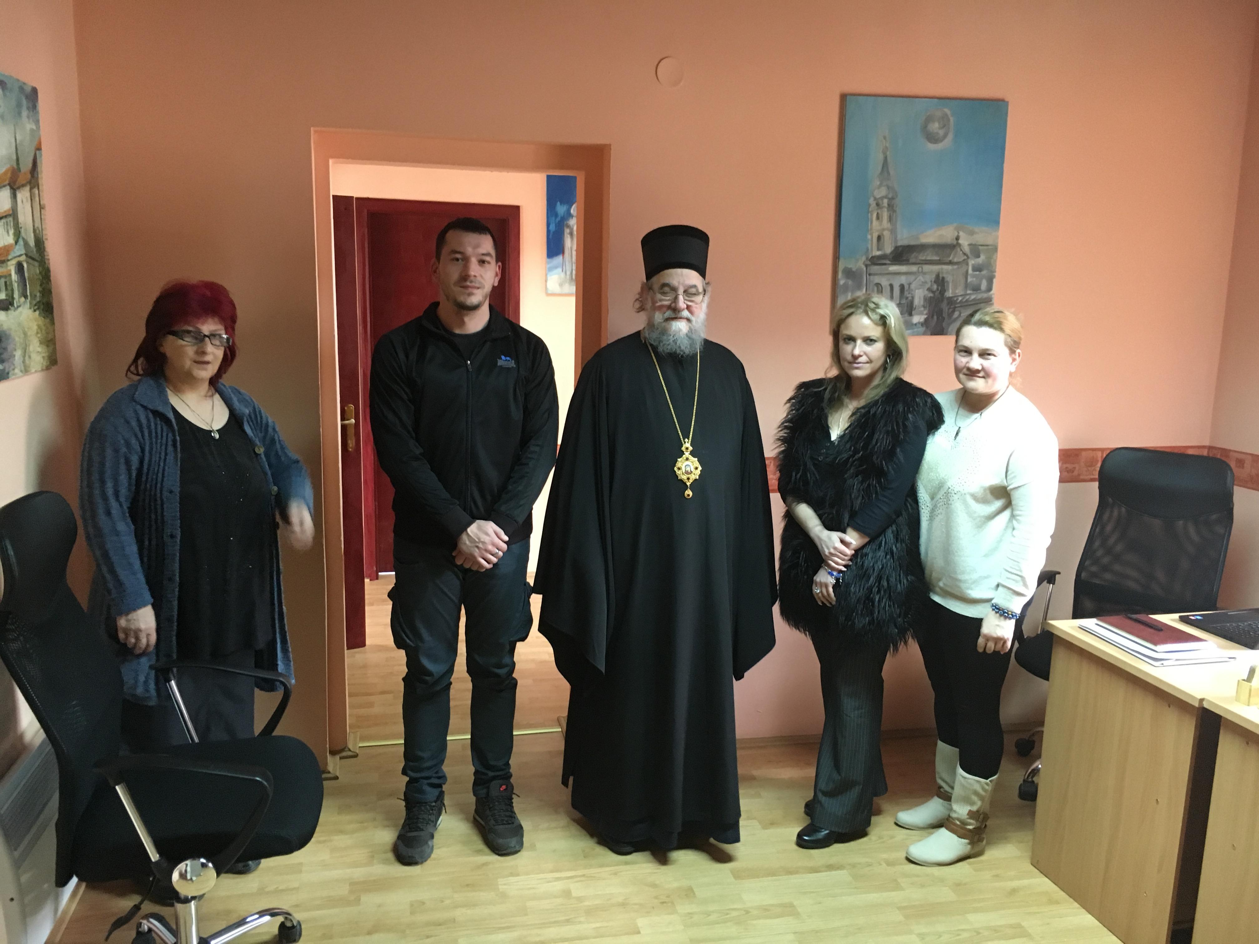 Владика Василије на састанку румског намесништва и у Радију Српски Сион