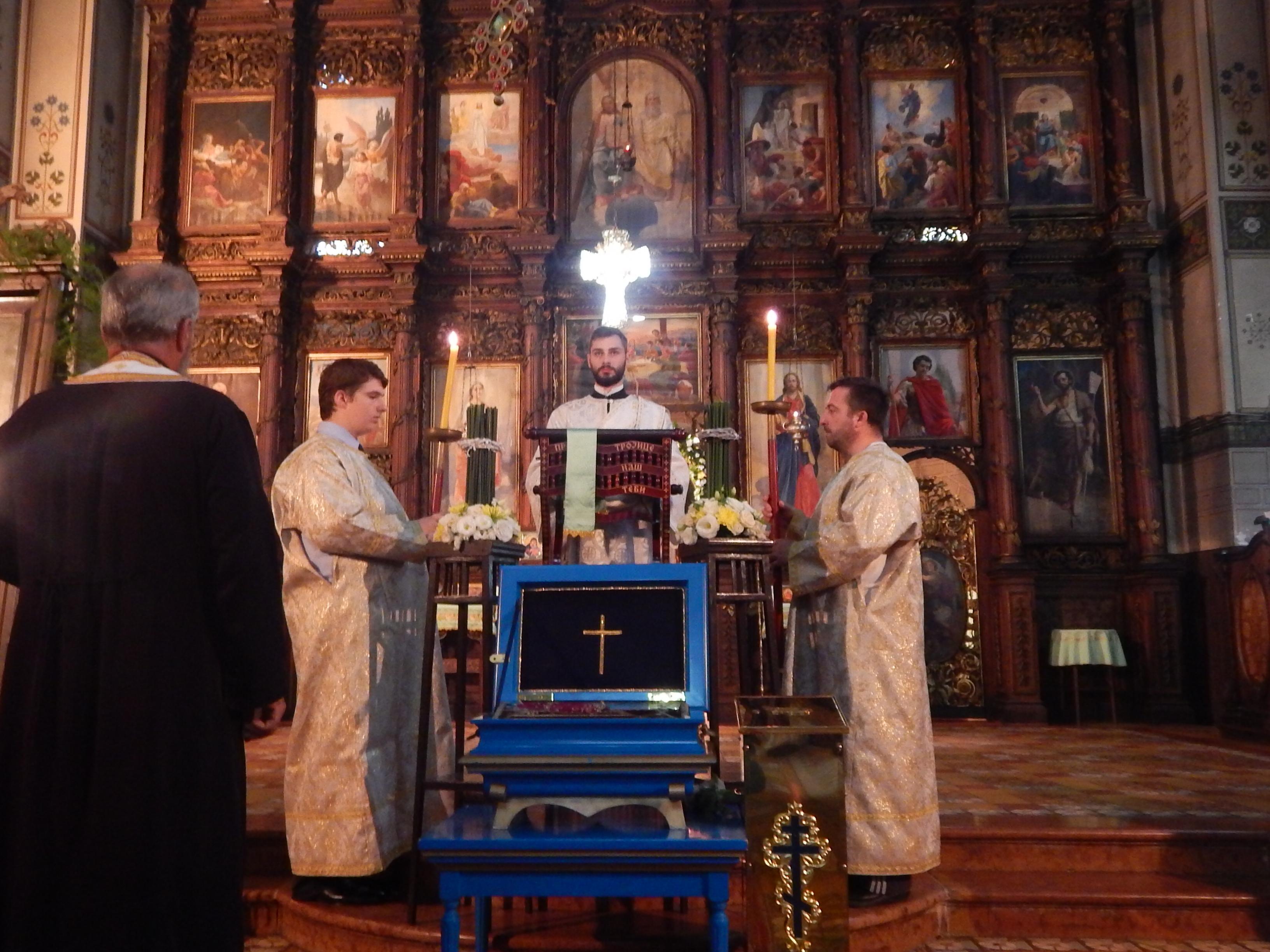 Преподобна мајка Ангелина у румском Храму силаска Светог Духа на апостоле