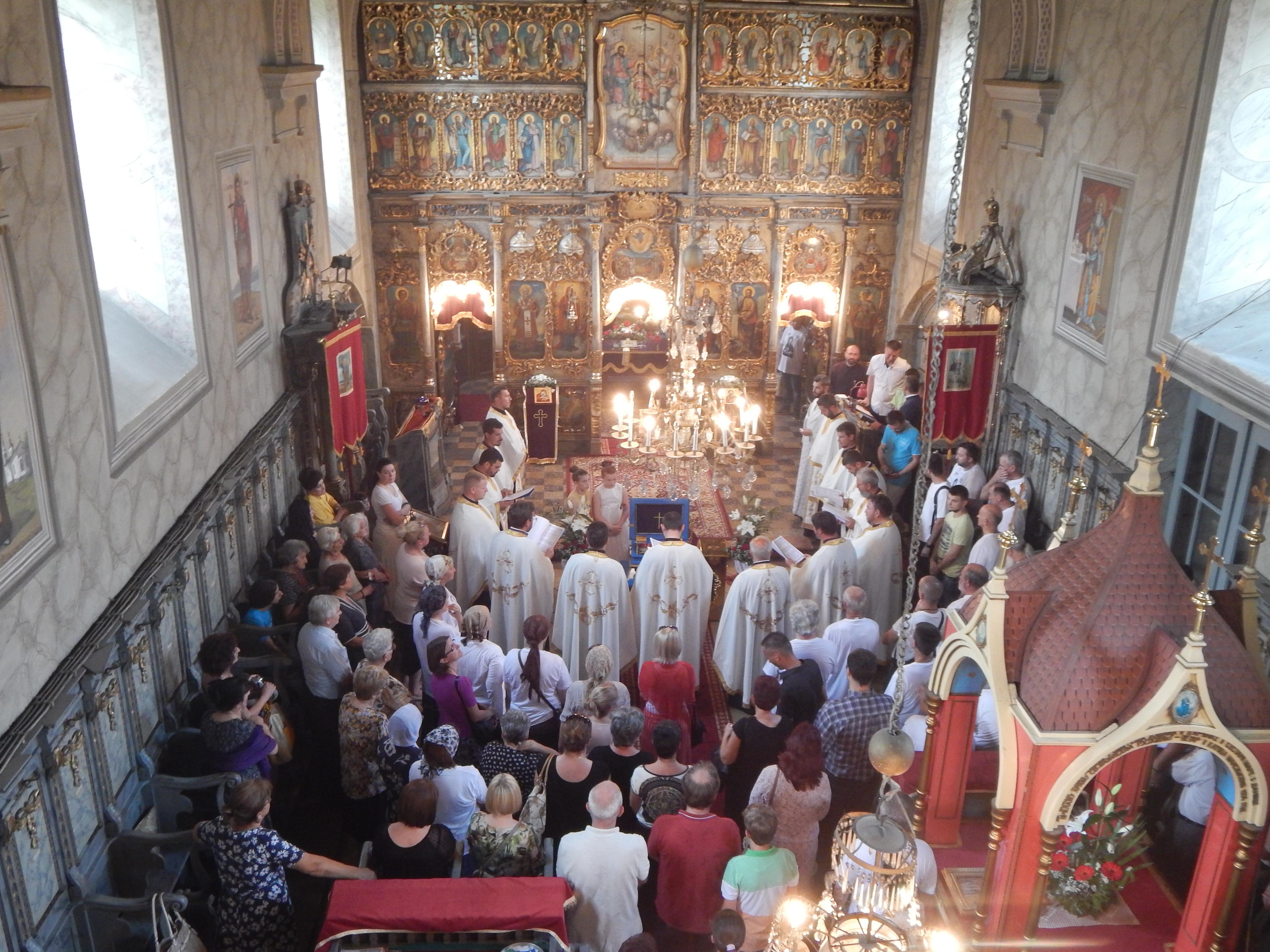 Света мајка Ангелина у Храму Вазнесења Господњег у Руми