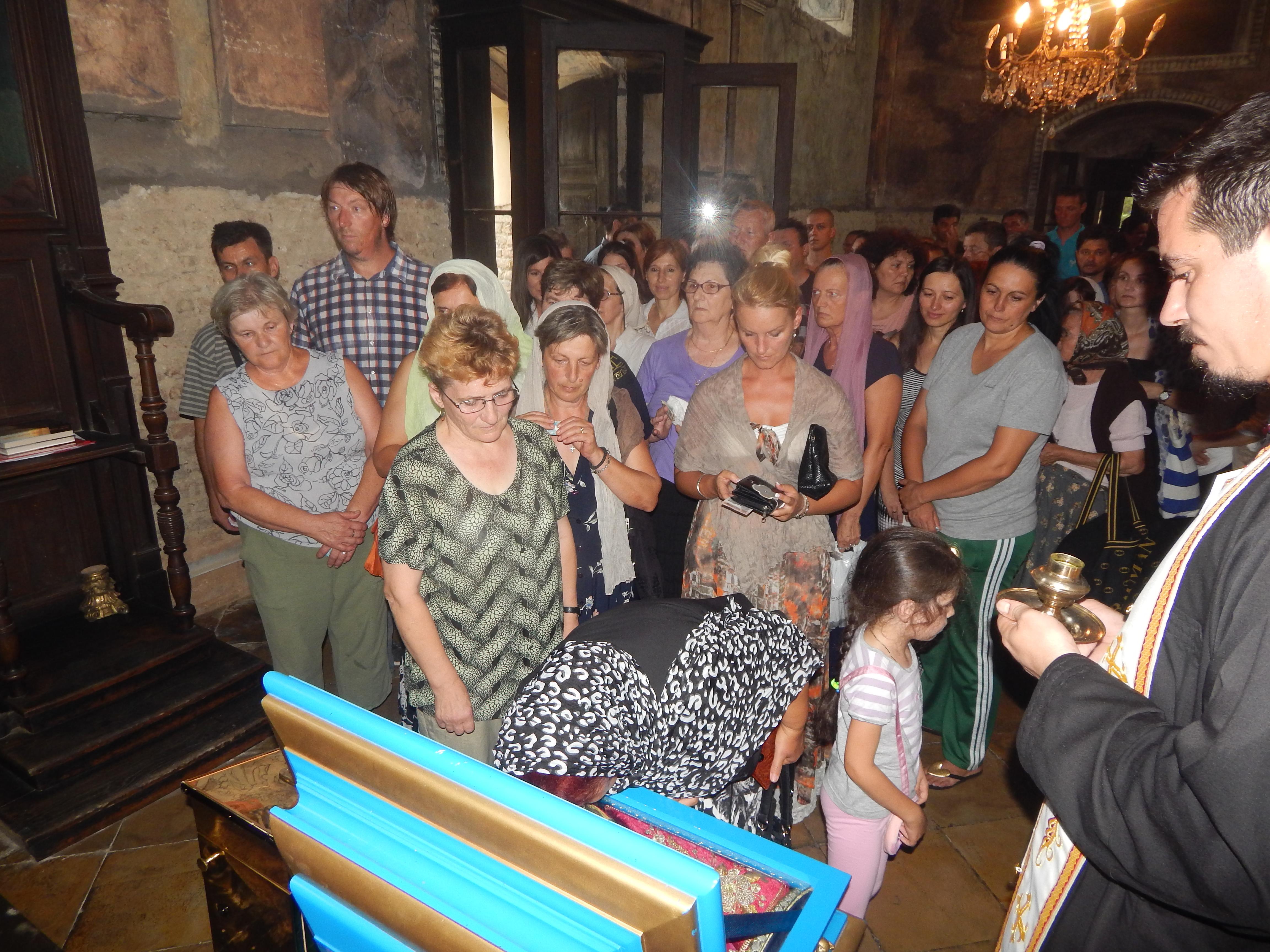 Дочек моштију Св. мати Ангелине у Вогњу