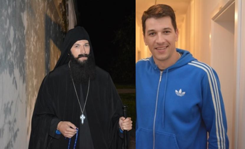 Виктор Савић, говорио је о својој улози владике Максима у представи уочи празника Свете Ангелине 11. августа, 2016. у манастиру Крушедол