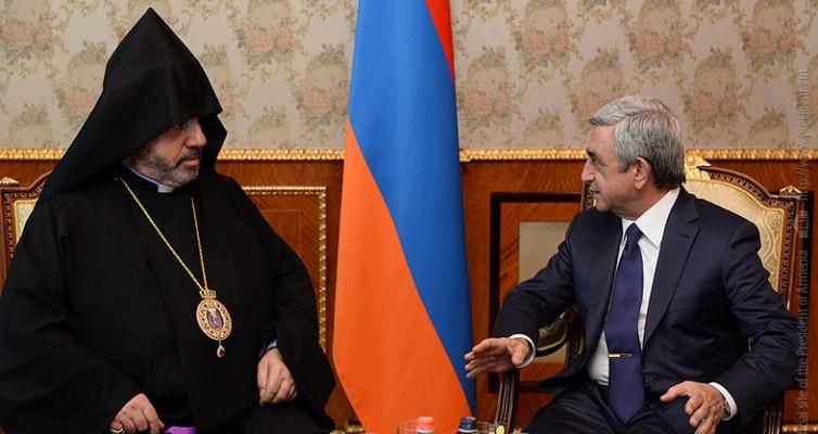 Председник Јерменије помаже обнову кувуклије у Јерусалиму