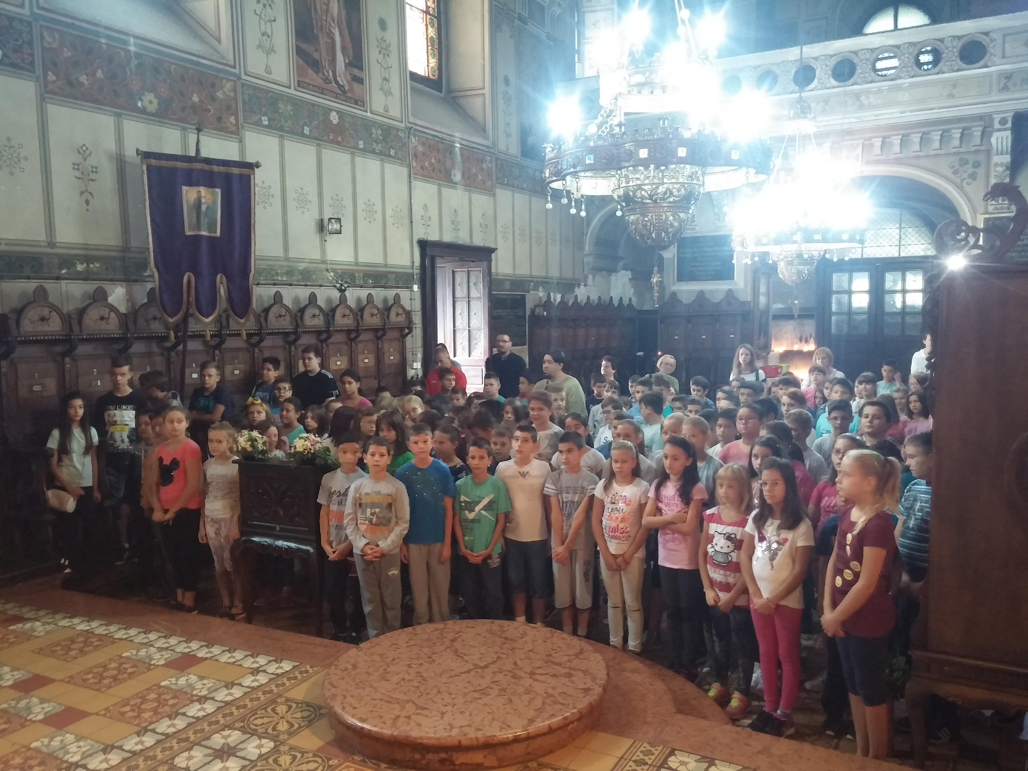 У Храму Силаска Светог Духа на апостоле одслужен молебан за успешан почетак нове школске године