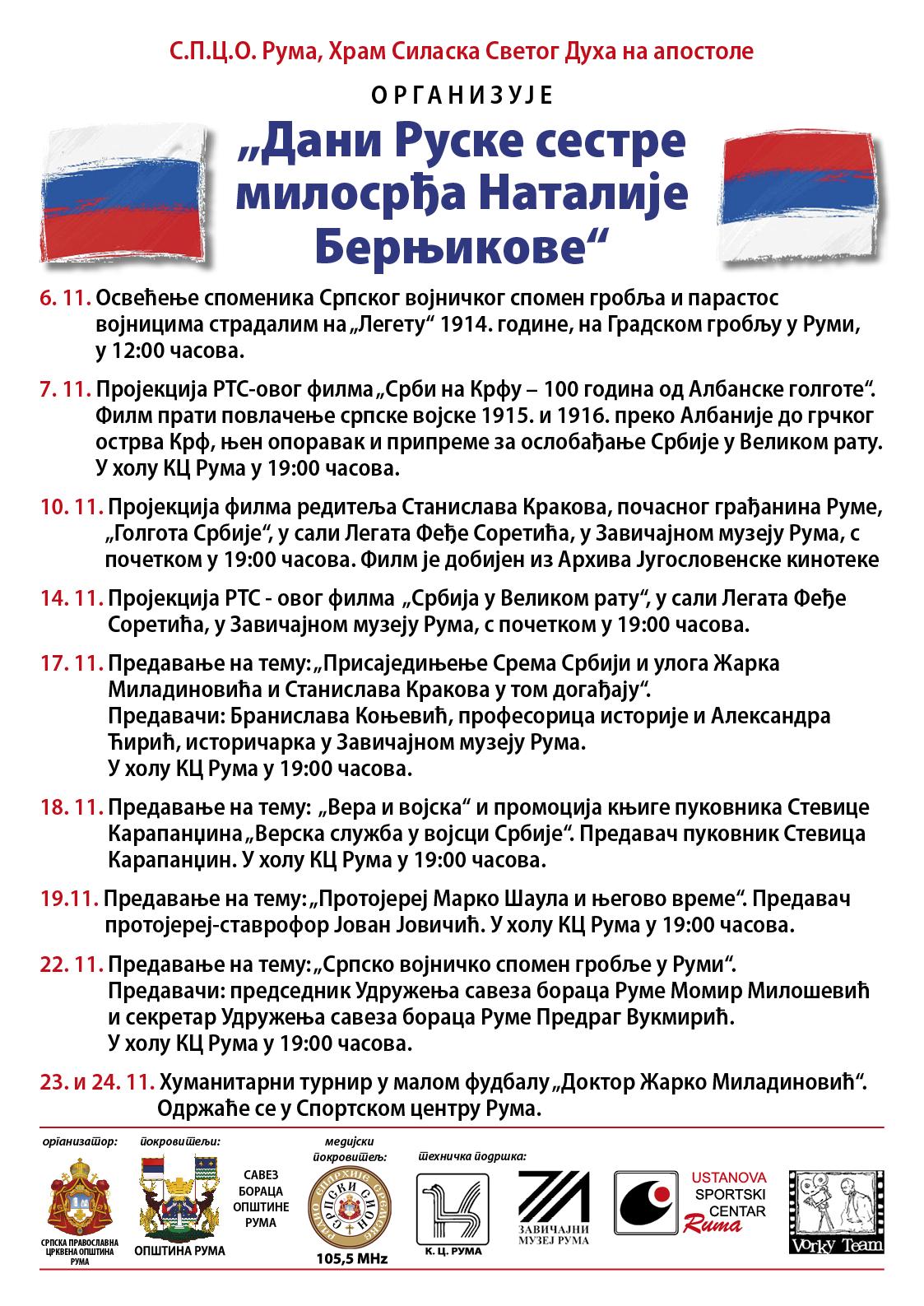 """Предавање на тему """"Српско војничко Спомен гробље у Руми"""""""