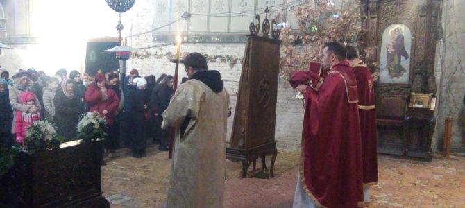 Божићна литургија у храму Силаска Светог Духа на апостоле у Руми