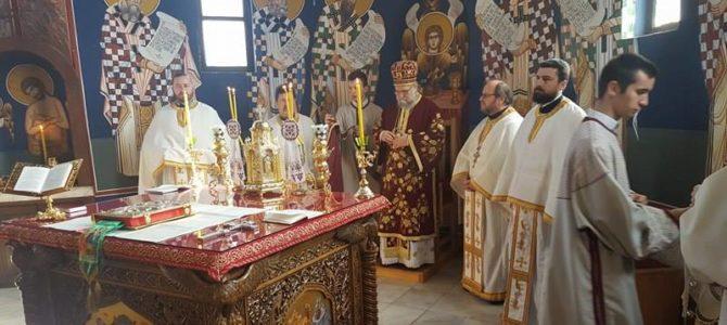 Света архијерејска Литургија у храму Свете Тројице у Новој Пазови