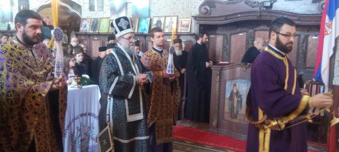 Света Архијерејска Литургија Пређеосвећених дарова у храму Светих архангела Михаила и Гаврила у Буђановцима