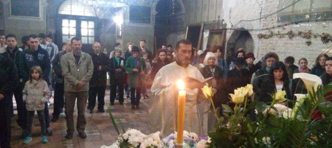 Велика субота у Храму Силаска Светог Духа на апостоле у Руми