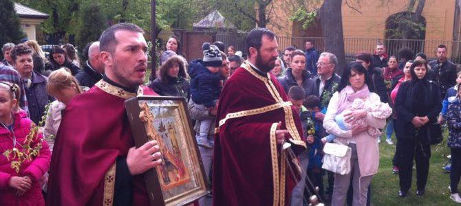 Лазарева субота у Храму Силаска Светог Духа на апостоле у Руми