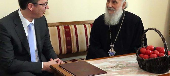 Његова Светост Патријарх српски Г. Иринеј примио премијера Србије