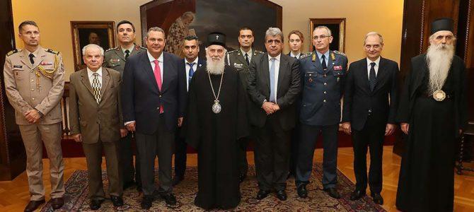Његова Светост Патријарх српски г. Иринеј примио грчког министра одбране