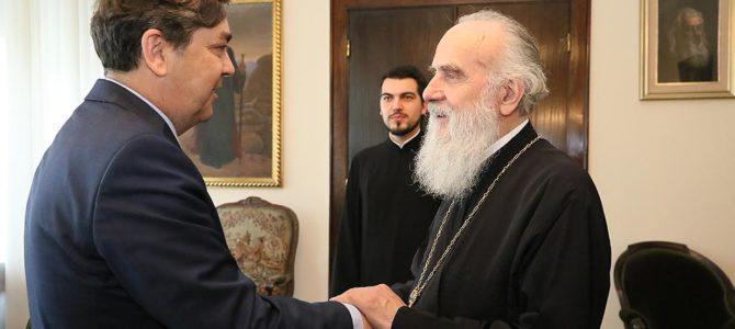 Његова Светост Патријарх српски г. Иринеј примио амбасадора Србије у Ватикану