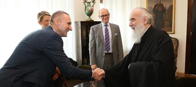 Његова Светост Патријарх српски г. Иринеј примио амбасадора Краљевине Норвешке