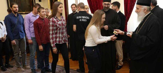 Његова Светост Патријарх српски Г. Иринеј примио најбоље ученике верске наставе