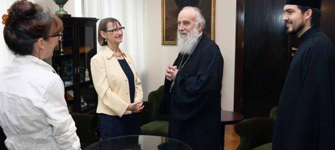 Његова Светост Патријарх српски г. Иринеј примио амбасадора Француске у Београду