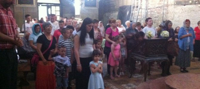 Ивањдан у храму Силаска Светог Духа на апостоле у Руми