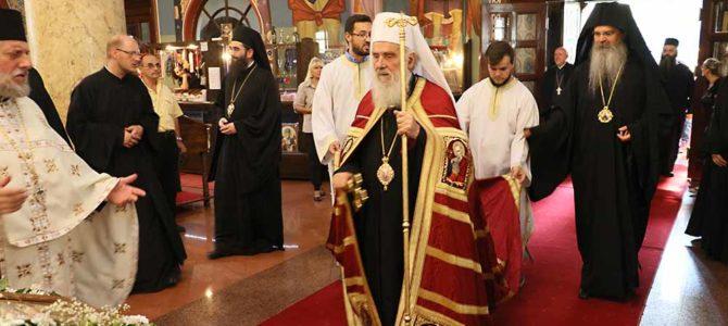 Његова Светост Патријарх српски Г. Иринеј свечано дочекан у Нишу
