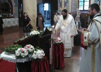 Прва Литургија Његовог Преосвештенства Епископа нишког Г. Арсенија