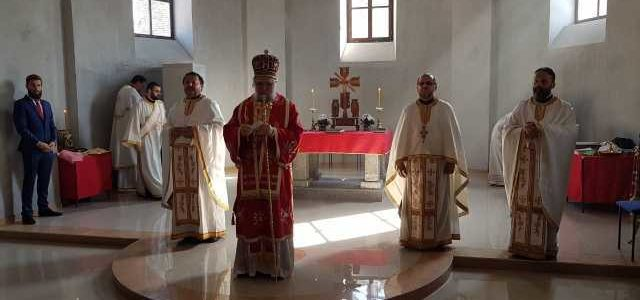 Његово Преосвештенство Епископ сремски Г. Василије освештао храм Светог Аргхангела Михаила у Илоку