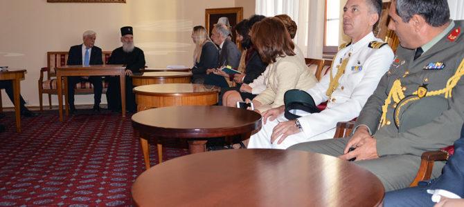 Председник Грчке на пријему код Његове Светости Патријарха српског Г. Иринеја