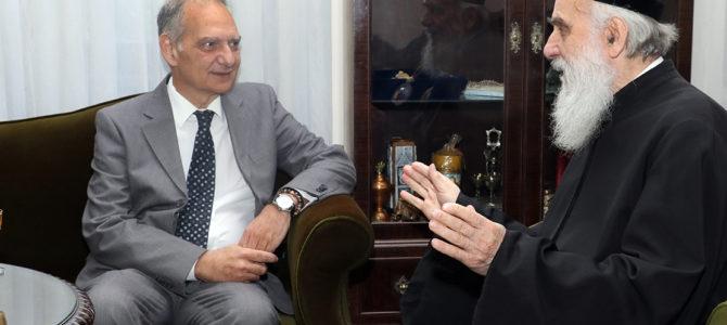 Грчки амбасадор на пријему код Патријарха српског