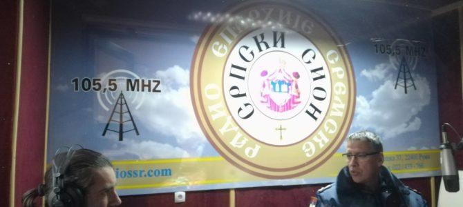 ИМАМО ГОСТА: начелник одељења саобраћајне полиције у ПУ Сремска Митровица Владимир Рољић