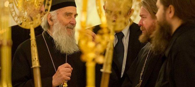 Патријарх Иринеј посетио Сретeњски манастир у Москви