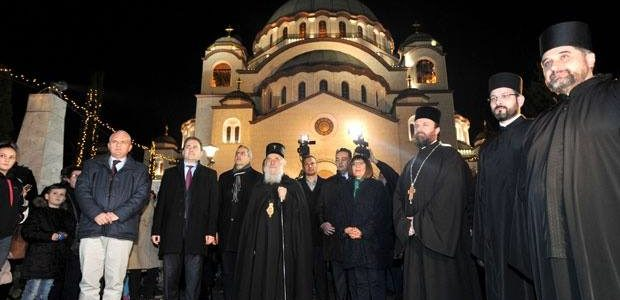 """Патријарх Иринеј отворио Божићно сеоце: """"Мир Божији, Христос се роди!"""""""