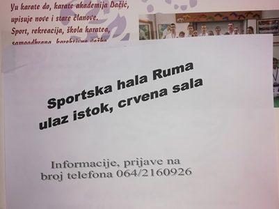 Отварање карате клубa Yu Karate Do у Руми