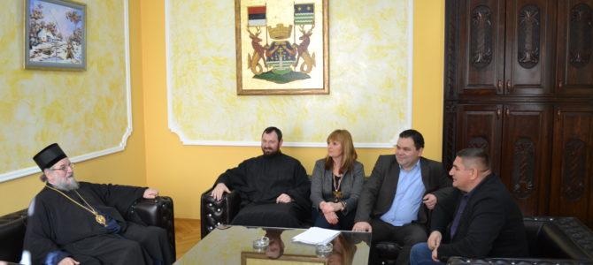 Епископ сремски г Василије на пријему код председника Општине Рума