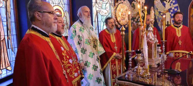 Патријарх богослужио у храму Светог Василија Острошког