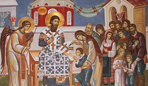Цело српство слави славу, свога оца Светог Саву!