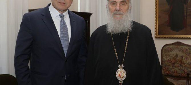 Патријарх Иринеј примио министра Вукосављевића