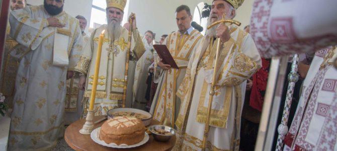 Патријарх осветио храм Светог Илије у Млаки, Славонија