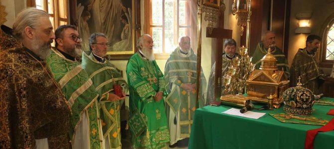 Патријарх богослужио у руској цркви Свете Тројице