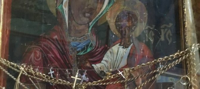 Икона Одигитрије Бајталске у храму на Бежанијској коси