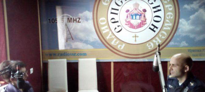ИМАМО ГОСТА: командир саобраћајне полиције испоставе у Сремској Митровици Срђан Јефтић