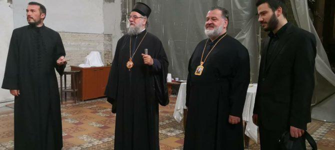 Епископ кронштатски Назарије посетио Грчку цркву у Руми
