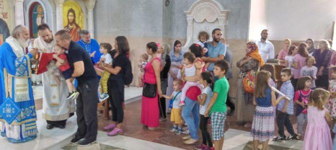 Прва посета Патријарха Иринеја Храму у Калуђерици