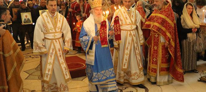 Патријарх богослужио у Руској цркви на Ташмајдану