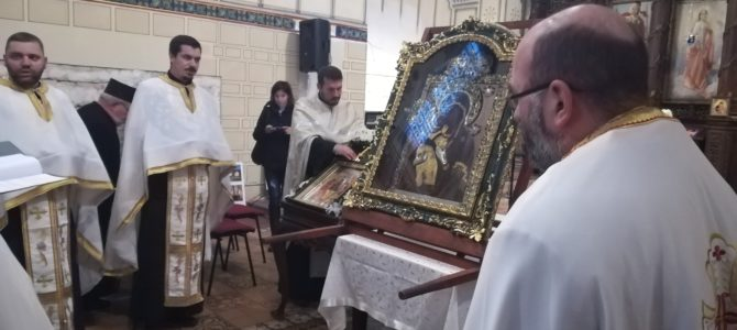 ЧУДОТВОРНА ИКОНА ПРЕСВЕТЕ БОГОРОДИЦЕ ПЕЋКЕ СТИГЛА У РУМУ