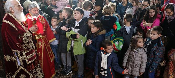 Детинци у храму Светог Георгија на Бежанији