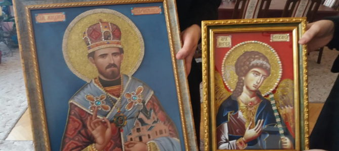 Живописање манастира Свете Петке у Беркасову код Шида