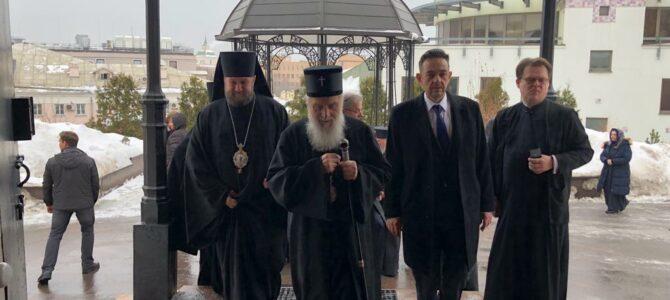 Патријарх посетио Подворје Српске Цркве у Москви