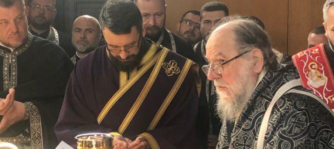 Света архијерејска Литургија пређеосвећених дарова у Новој Пазови