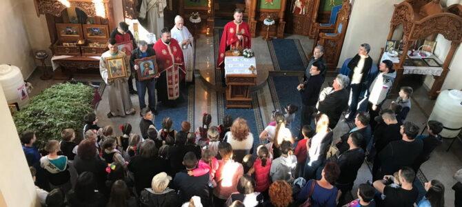 Лазарева субота и Врбица у храму Свете Петке у Новој Пазови