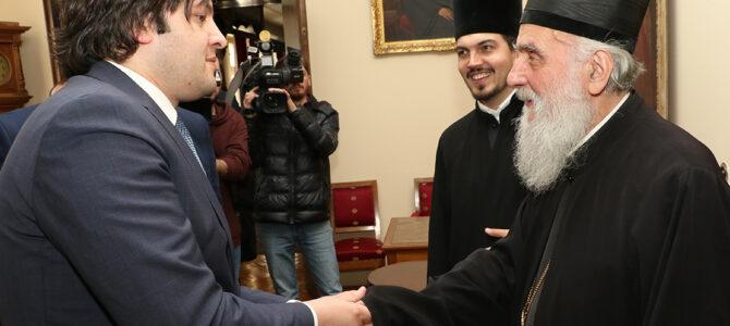 Председник Парламента Грузије код Патријарха српског